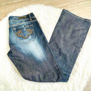 RF Rock x Express Bootcut Blue Jeans NWOT